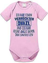 Ich habe einen verrückten Onkel und ich habe keine Angst davor ihn einzusetzen Baby Strampler by Shirtcity