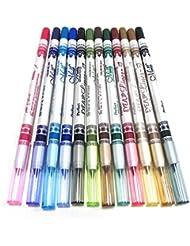 12 Colors Cosmetic Eye Shadow Lip Liner Eyeliner Pencil Makeup