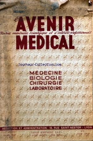 AVENIR MEDICAL [No 6] du 01/06/1954