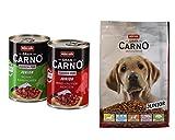 Animonda Hund GranCarno Junior Mix 12 x 400g Pack + 1 kg Trockenfutter