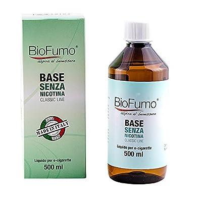 E liquid base neutral 500 ml PG 50% VG 40%, liquid neutral 0mg nicotin free for electronic cigarette,e-liquid for e-cig mix vegetable glycerine & propylene glycol 40/50,liquid base 500ml e-cigarette from BioFumo