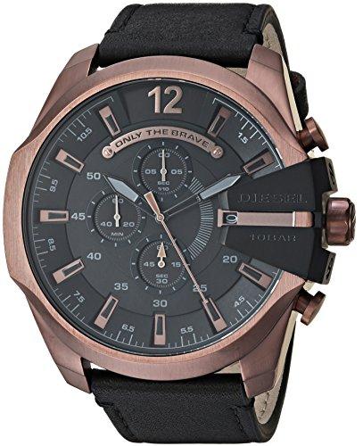 Diesel Men's Analog Quartz Watch with Leather Strap DZ4459