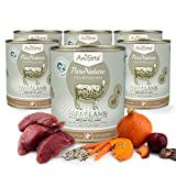 Comida Húmeda para Perros Sin Cereales | 88,2% Carne de Cordero Farms Lamb (6 x 800g) | Sin Granos Ni Conservantes | Dieta Barf | AniForte