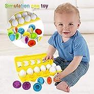 Sailunte Matching Egg Set, 12PCS Color&Shape Matching Egg Set Montessori Toys For Toddlers 3D Egg Puzzle S