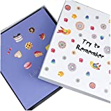 Licxcx Album Kreative Selbstklebende Fotoalbum Handbuch DIY Film Paar Romantische Album Babyalbum süße Leben Album, Geschenk-Box