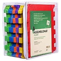 Assemblemat® 16 pieces Soft Eva Foam Children Play Mats with storage bag Multicolour Interlocking Baby Kids Gym Floor Playing Mat Tiles Set