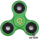 LA TECH - GREEN Enfants Tri Fidget Hand Spinner Wid get Focus Jouet Poche Triangle Desktoy Cadeau pour Adultes - Vert …