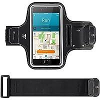TaoTronics Brassard Sport Ajustable Smartphone Support avec Rabats, Porte-clés&Range-cartes imperméable Bandeau avec bandes réfléchissantes, compatible avec la plupart de smartphones 5,5''