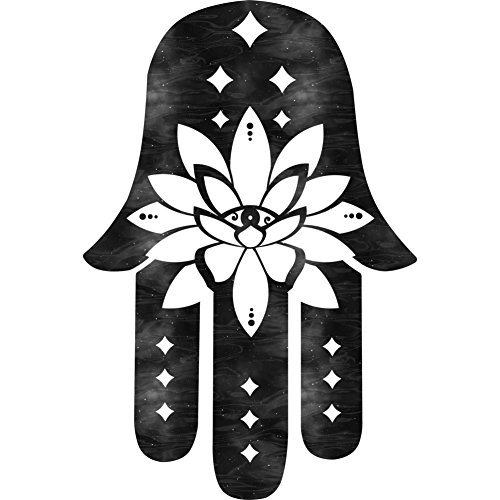 Hamsa Lotus - Starry Eyed Women's Graphic T-Shirt - Design By Humans White