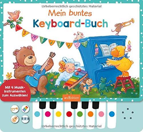 Mein buntes Keyboard-Buch: Mit vier Musikinstrumenten zum Auswählen!