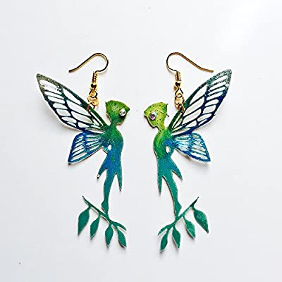 Boucles d'oreille Tinker Bell - Boucles d'oreilles amoureuses Peter Pan - Bijoux tendance - Bijoux Green Tinkerbell - Boucles d'oreilles Tinker Bell - Peter Pan