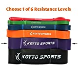 Assisted Pull up Bands - 6 Levels, 1 - 80 kg Resistance, 104 cm Exercise Tension Bands for Pull-ups, Stretching and Powerlifting