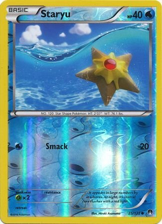 Pokemon Single Card - STARYU 25/122 Reverse Holo XY BREAKpoint