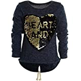 Mädchen Kinder Winter Strick Pullover Pulli Hoodie Hoody Sweat Shirt Jacke 20679, Farbe:Blau;Größe:152