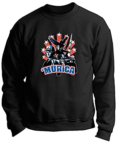 Murica Washington Lincoln Franklin Bro Down Funny Premium Crewneck Sweatshirt XXX-Large Royal