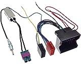 VAG Radio Adapter Doppel Fakra-DIN Diversity Quadlock ISO Autoradio Stecker Kabel Phantomeinspeisung Kabelsatz Radio Adapterkabel
