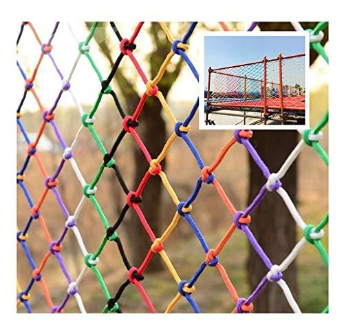 NIUFHW Outdoor Sicherheitsnetz Katzennetz, Kindertreppe Anti-Fall-Netz, Geländer Zierzaun Schutznetz Abdecknetz, DIY Nylon-Seilnetz 3x3m (Size : 1 * 5m(3 * 16ft))