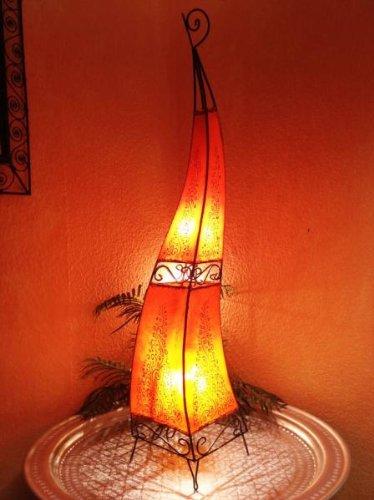 Stehlampe Rahaf Orange 120cm (Glühlampe Wandleuchte Fertig)