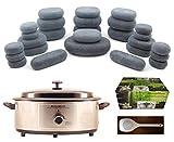 MassageMaster HOT STONE MASSAGE KIT: 27 Basalt Stones + 6.5 Quart Heater