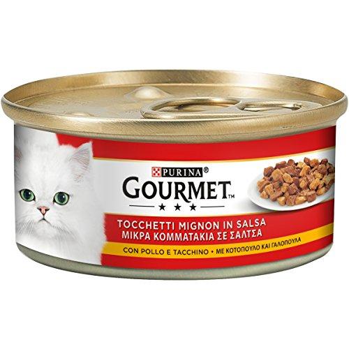 Gourmet sigillo oro tocchetti mignon con pollo e tacchino - confezione da 24 x 195 g