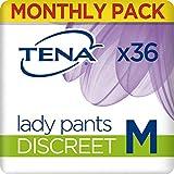 Tena Lady Pants Discreet Medium, Monats-Paket mit 36 Pants (6 Packungen je 6 Einweghöschen)