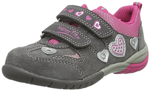 Superfit Sport3, Baskets Basses Fille Gris - Grau (STONE KOMBI 06)