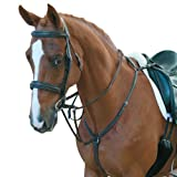 Collegiate Padded Hunter Breastplate with Running Mart,Black,Full Size