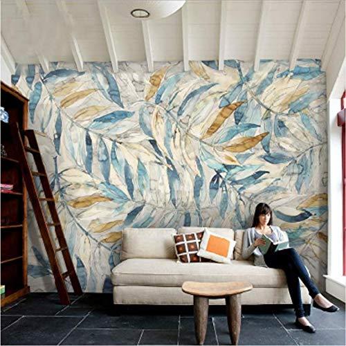 Zybnb foto arte nordica dipinte a mano foglie carta da parati tv camera da letto divano portico corridoio soggiorno ristorante carta da parati murale