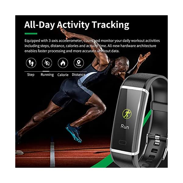 Fitness Wristband Tracker Activity Sports Watch with Pedometer Heart Rate Monitor Multiple Sports Mode Step Calorie… 6
