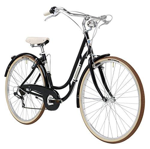 Bicicleta Clasica Retro Vintage Mujer Adriatica Danish 48cm 6v Negro