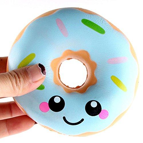 asongff 1pc Kawaii Dekompression Squeeze Creme Duftenden Langsam Steigende Squishy Spielzeug Kinder Essen Simulation Niedlichen Spielzeug (11*11*4cm, Rosa) (Party-galaxie-halloween-dekoration)