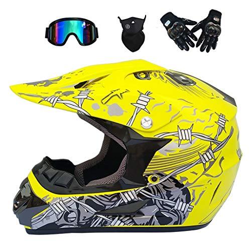 Multicolor Helm Adult Motocross Helm/Goggles/Maske/Handschuhe Motorrad Helm