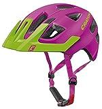 Cratoni Kinder Maxster Pro Fahrradhelm, Pink/Lime Matt, XS-S