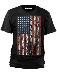 Wolkenbruch® T-Shirt USA Flag Distress, Gr.S - XXXXXL