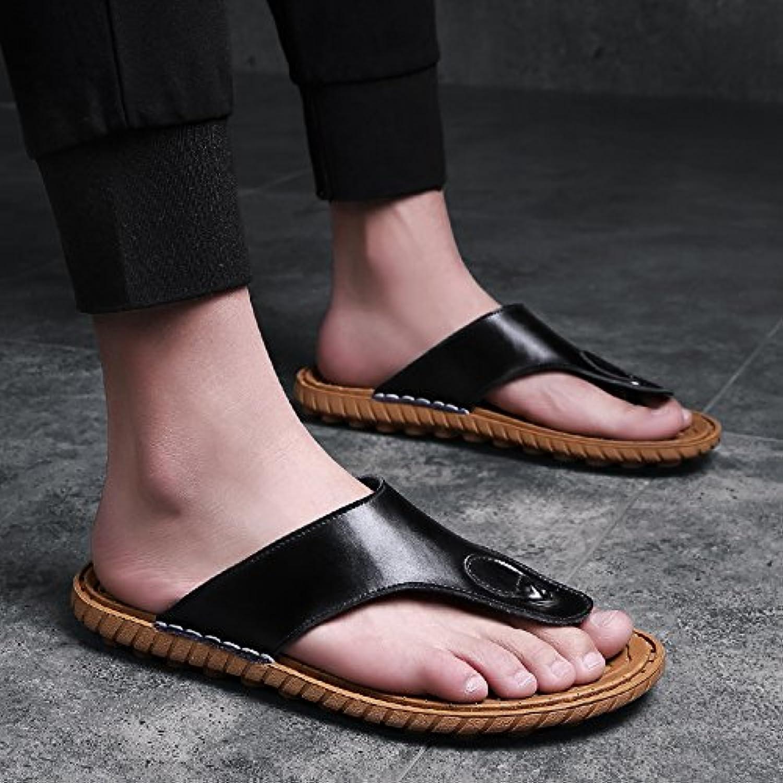 OME&QIUMEI Männliche Sommer Strand Schuhe Sandalen Hausschuhe Rutschfeste Hausschuhe