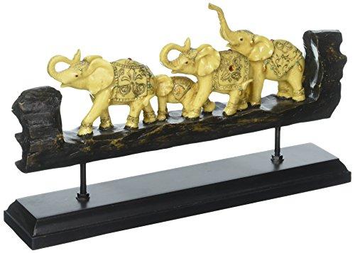 Tom Exotic adornado elefantes sintética madera tallada figura decorativa Escultura, mesa de...