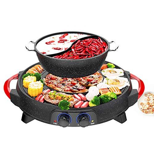 KLTO Yin Yang Hot Pot, Zerlegbar Elektro Hot Pot, Haushalt Antihaft-Reis-Kocher, Große Kapazitäts-Elektrogrill