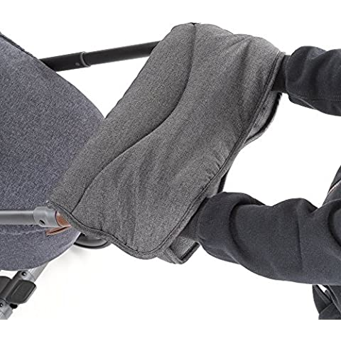 –Calientamanos/calentador de manos con térmica (Forro Polar, para, Cochecito o Buggy, melange de agua y viento, transpirable–Grey