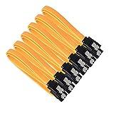 6 cavi SATA SATAI, Sicai 15.6 pollici SATA III 6.0 Gbps con chiusura a scatto e spinotto a 90 gradi, arancione