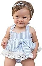 Covermason Bebé Niñas Bowknot Camiseta y Pantalones cortos y Venda(1 Conjunto)