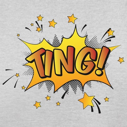 Superheld Ting - Herren T-Shirt - 13 Farben Hellgrau
