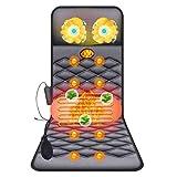 Full Body Massage Mat Electric Vibrator Massager Mattress Heating Therapy Neck Back Massage Relaxation Bed Massage Care