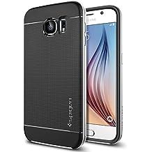 Spigen SGP11320 - Funda para Samsung Galaxy S6, Negro/Plata