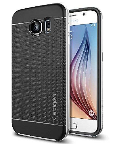 Samsung Galaxy S6 Hülle, Spigen® [Neo Hybrid] Dual-Layer Schutzrahmen [Satin Silber] TPU Schale + PC Farbenrahmen / 2-teilige Premium Handyhülle / Schutzhülle für Samsung S6 Case, Samsung S6 Cover, Galaxy S6 Case, Galaxy S6 Cover - Satin Silver (SGP11320)