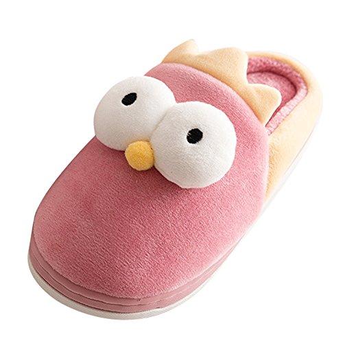 Kinder Pantoffeln Winter Mädchen Jungen Hausschuhe Cartoon Hausschuhe Schuhe Warmen Winter Rutschfeste Pantoffel Rosa 16-17 Meedot