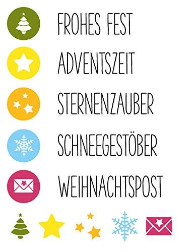 Clear Stamp-Set Stempel-Gummi Karten-Kunst - Weihnachts-Stempel Symbolisch zu Weihnachten -