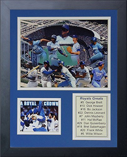 Kansas City Royals Kauffman Stadium (Legenden Sterben Nie Kansas City Royals-Größen gerahmtes Foto Collage, 11 x 35,6 cm)