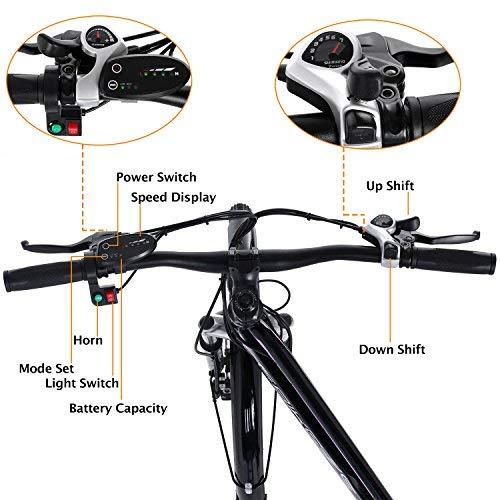 Beautytalk- 26 Zoll Elektrofahrrad E-Bike E-Mountainbike 35km/h Mountainbike Elektro Fahrrad mit Kapazität Lithium-Akku,LED-Anzeige,250W Max. (4)