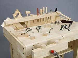 kinder werkbank holz werkzeugkiste 30 werkzeuge spielzeug. Black Bedroom Furniture Sets. Home Design Ideas