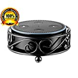 Gocybei Speaker Guard Stand for Echo Dot 2 and Echo Dot 1,Solid Metal Protective Case Holder for Amazon Echo Dot 2/Echo Dot 1